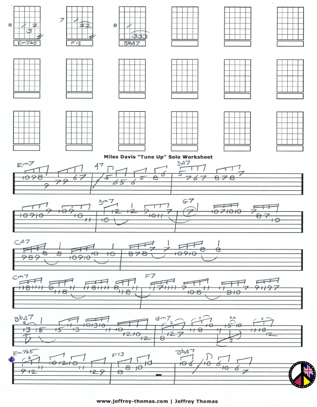 Miles Davis-Tune Up Single Note Jazz Guitar Solo by Jeffrey Thomas.PNG