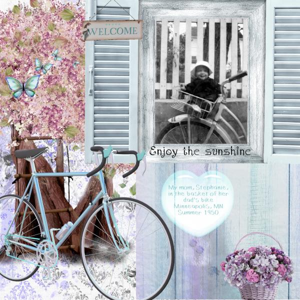 Vintage Bike Ride scrapbook layout 3 by Karen T 600x600 px.jpg