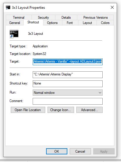 Artemis Display Shortcut.png