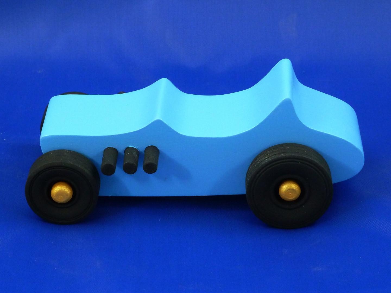 20170104-161252 - 27 Bucket T Wood Toy Car 1927 Ford Hot Rod Street Rod Roadster Muscle Car Ford Model T Blue Handmade Classic T-Bucket Rat Rod.jpg