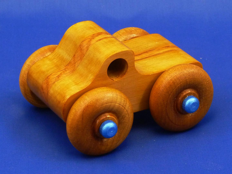 20170104-183612 Monster Truck, Wooden Toy Truck, Toy Truck, Wooden Truck, Play Pal, Pickup, Handmade, Handcrafted, Wood Truck, Wood Toys, Oak, Poplar, Blue.jpg