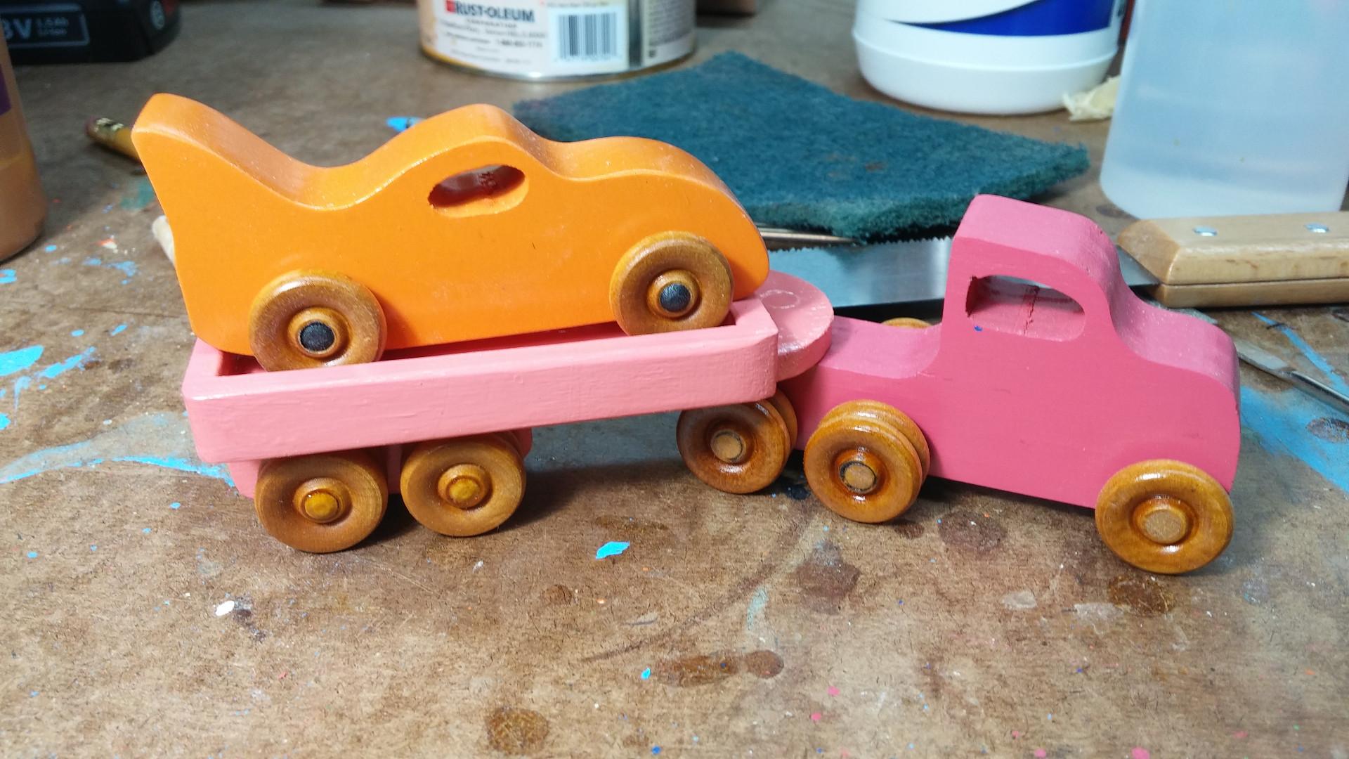 2017-05-11 04.22.14 - Wooden Toy - Trailer - Truck - Pink - Bat Car- Orange - Car Hauler.jpg