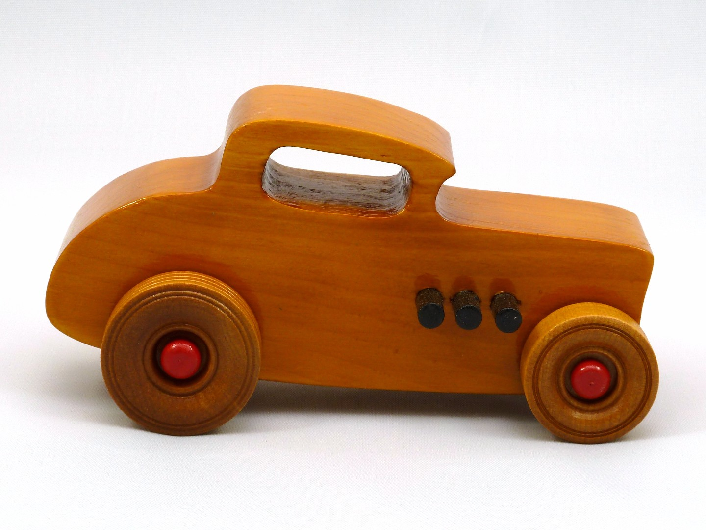 20170902-171839 Wooden Toy Car - Hot Rod Freaky Ford - 32 Deuce Coupe - Pine - Amber Shellac - Red.jpg