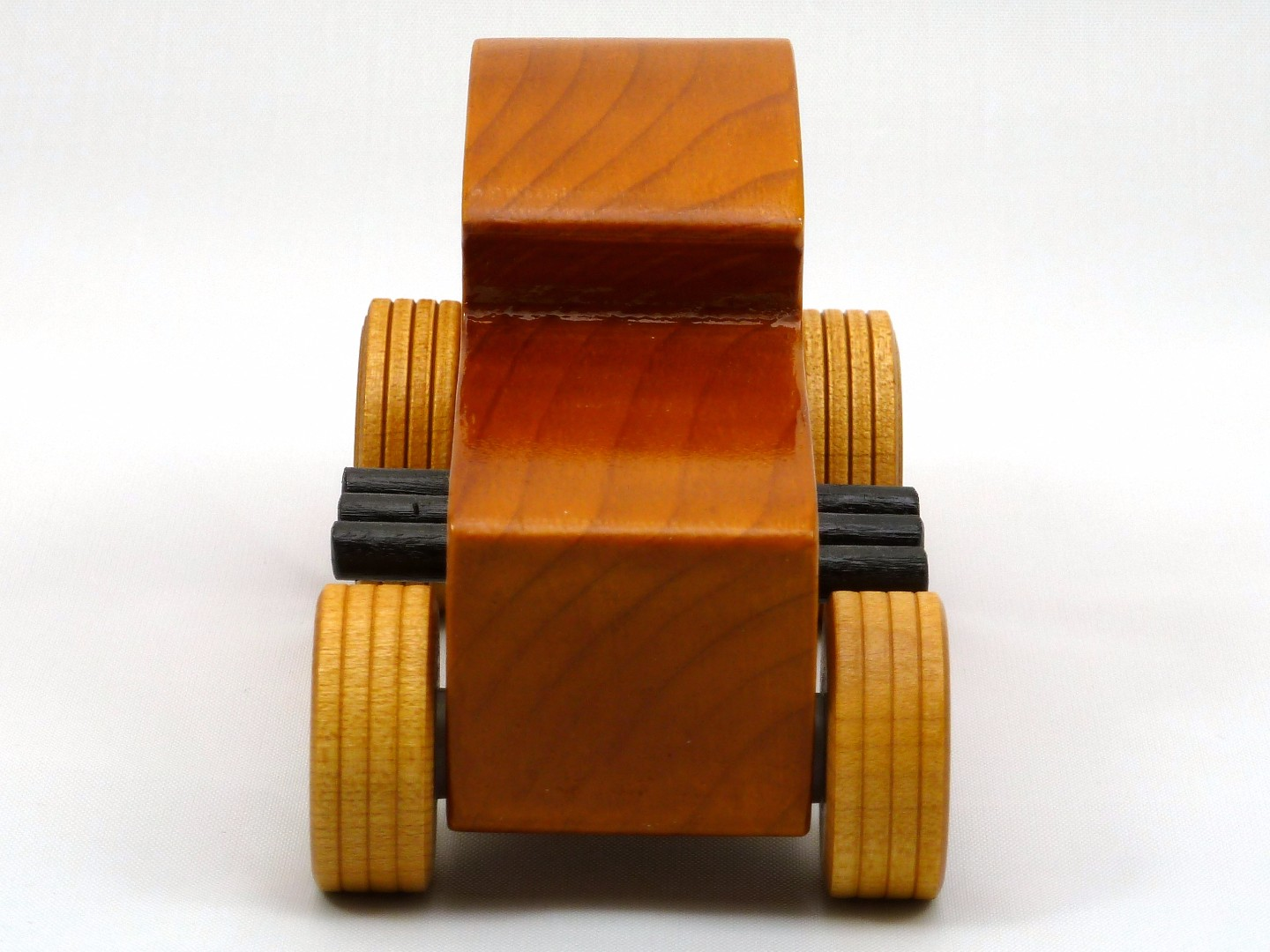 20170902-171403 Wooden Toy Car - Hot Rod Freaky Ford - 32 Deuce Coupe - Pine - Amber Shellac - Red.jpg
