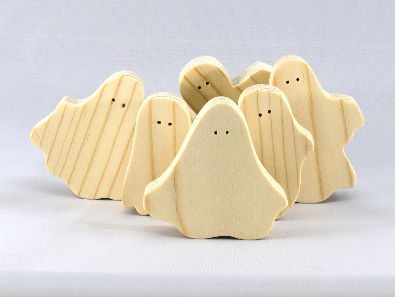 20190919-065151 Handmade Wooden Halloween Ghost Cutouts - Set of 6 Sil.jpg