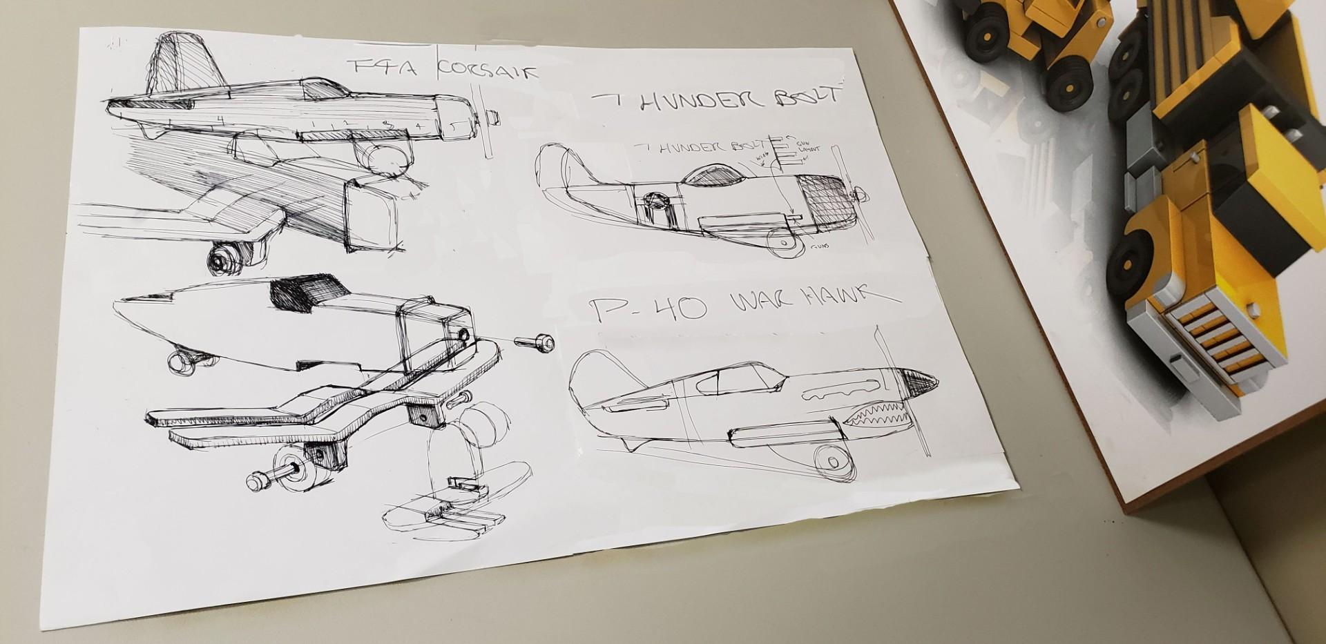 WW2 Planes N Power Wagon sketches.jpg