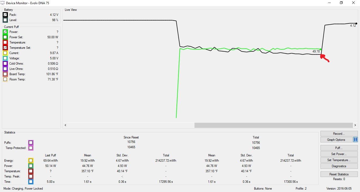 SDNA75 at 50 watts.JPG
