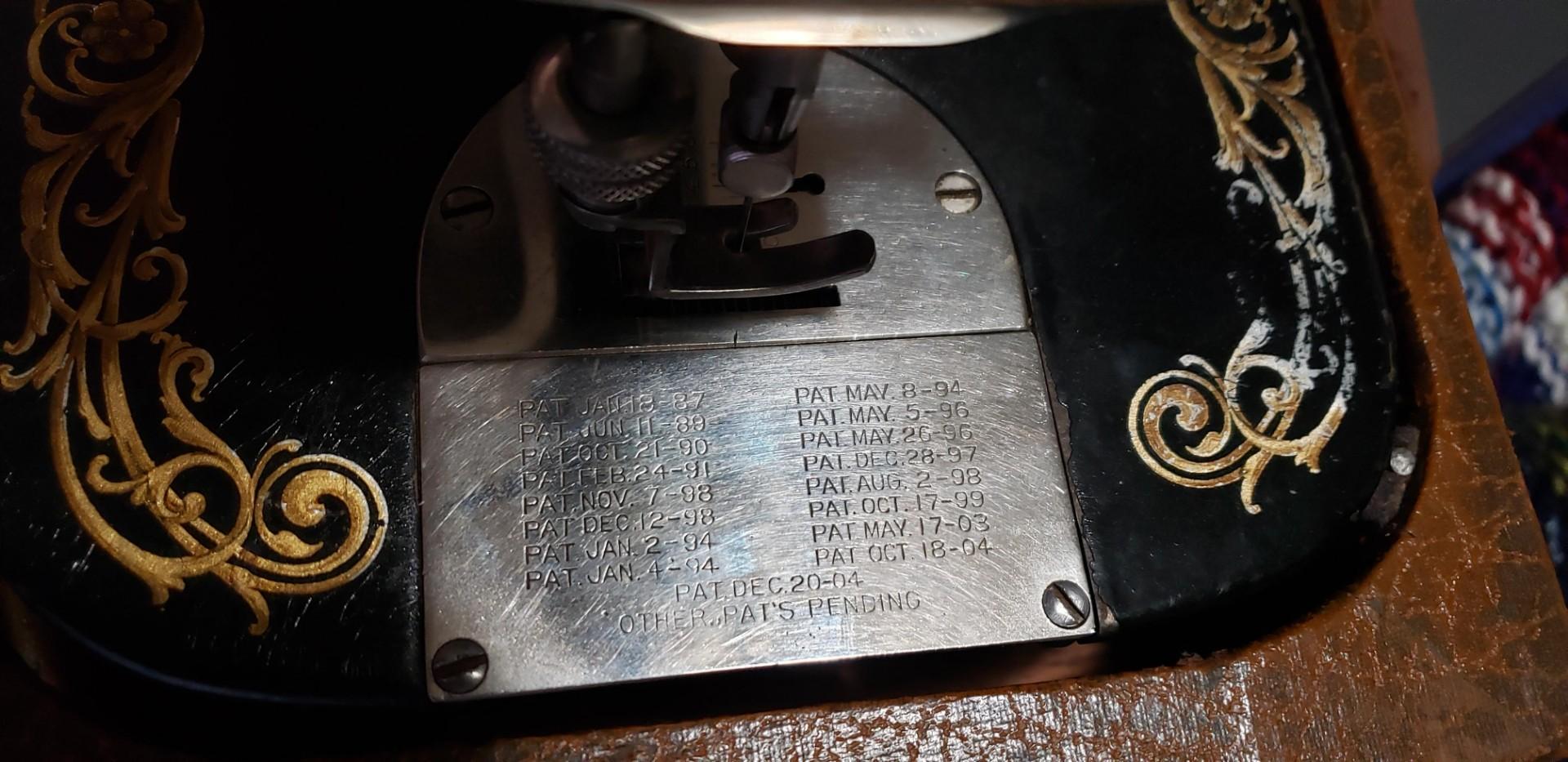 Patent list on the throat-needle plate.jpg