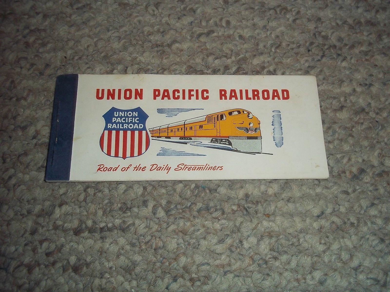VINTAGE UNION PACIFIC RAILROAD 1954 PASSENGER COUPON TICKET BOOK $5.00.jpg