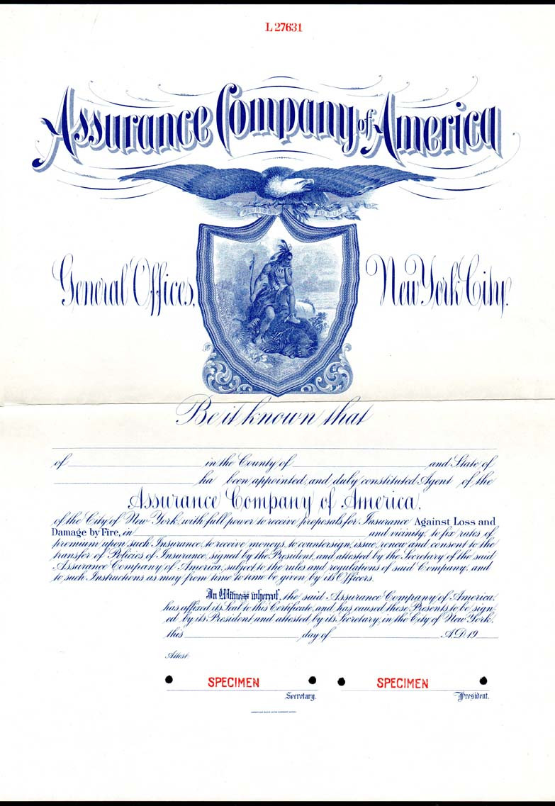 Assurance Co. of America agent certificate.jpg