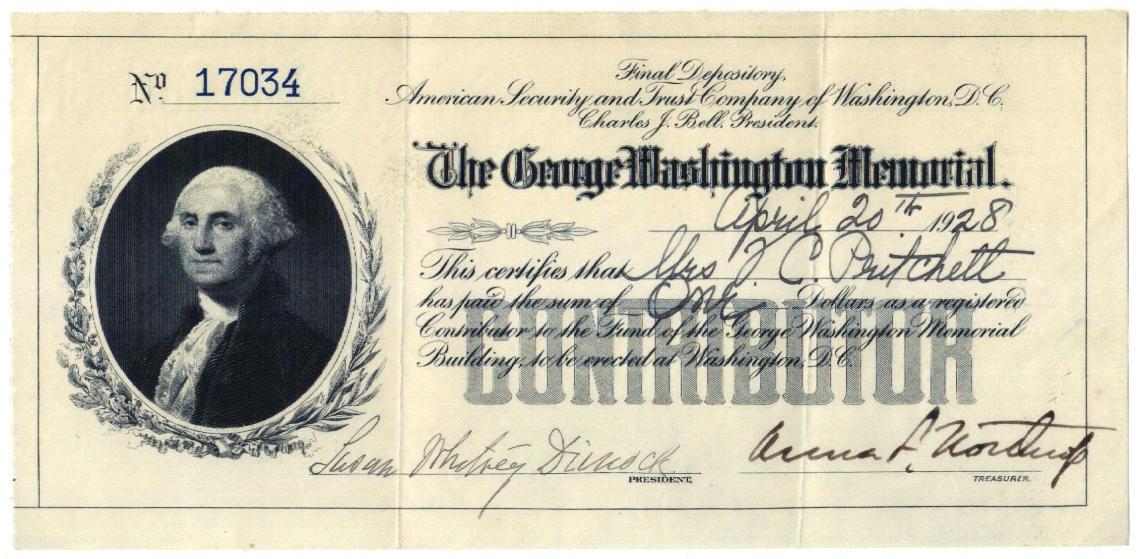 Geo Wash Memorial donor receipt BEP.jpg