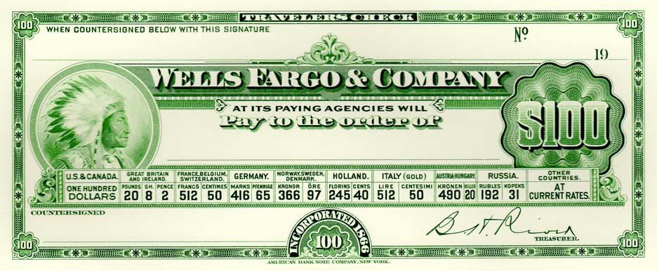 Wells Fargo Trav Check reprint 100.jpg