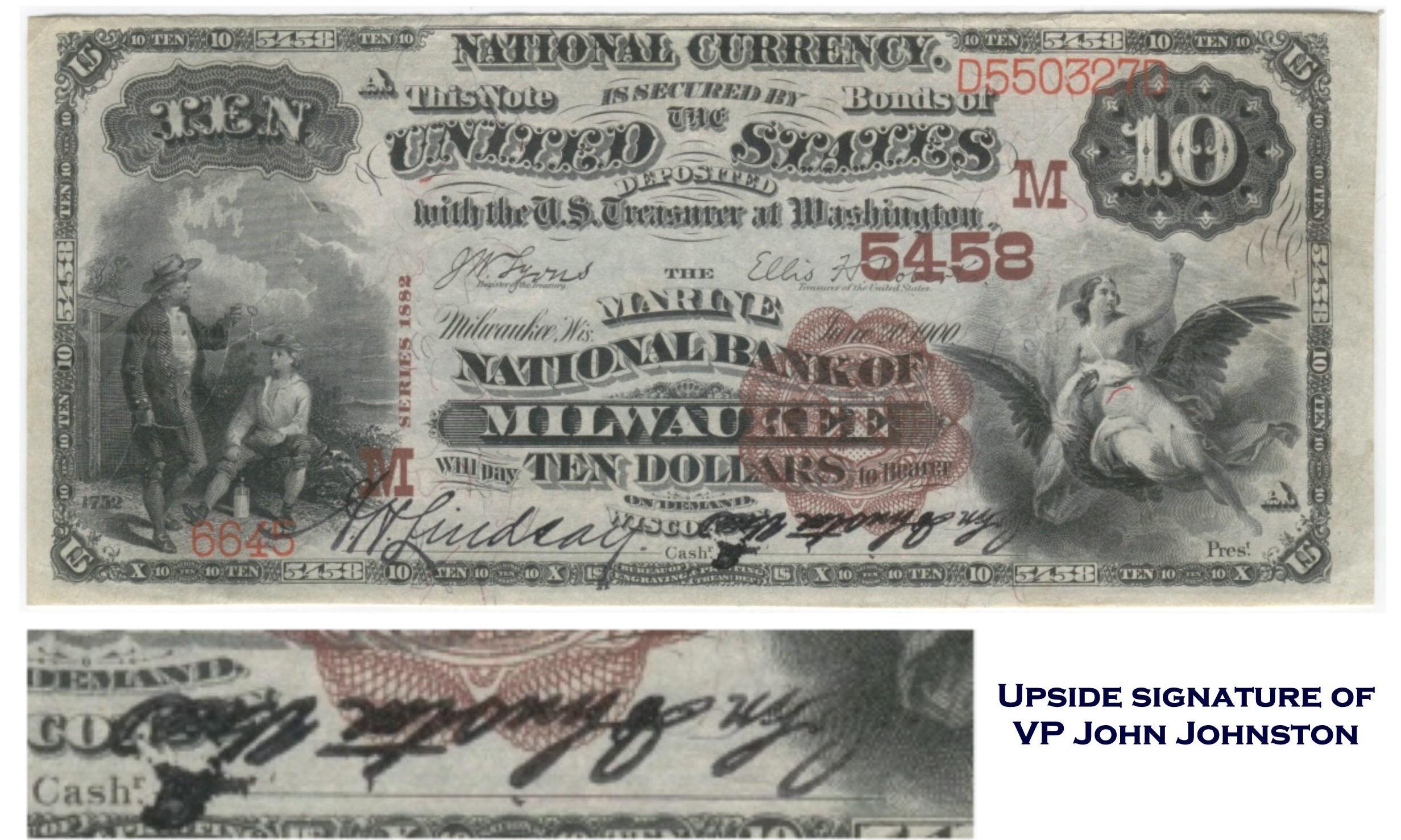 Milwaukee, 82BB, (ch.5458, Marine NB), $10, ERROR, invert sig.jpg