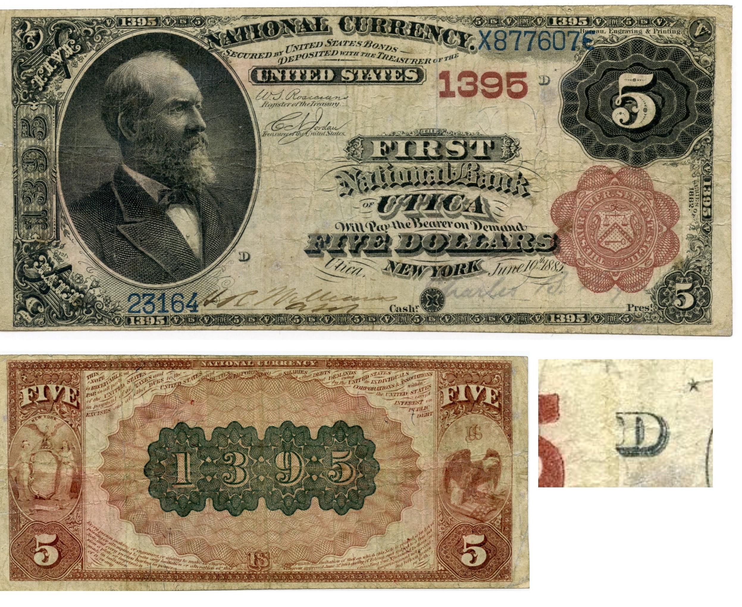 NY, Utica, 82BB, ch.1395, FR469, FNB, $5, Re-engraved STAR note.jpg