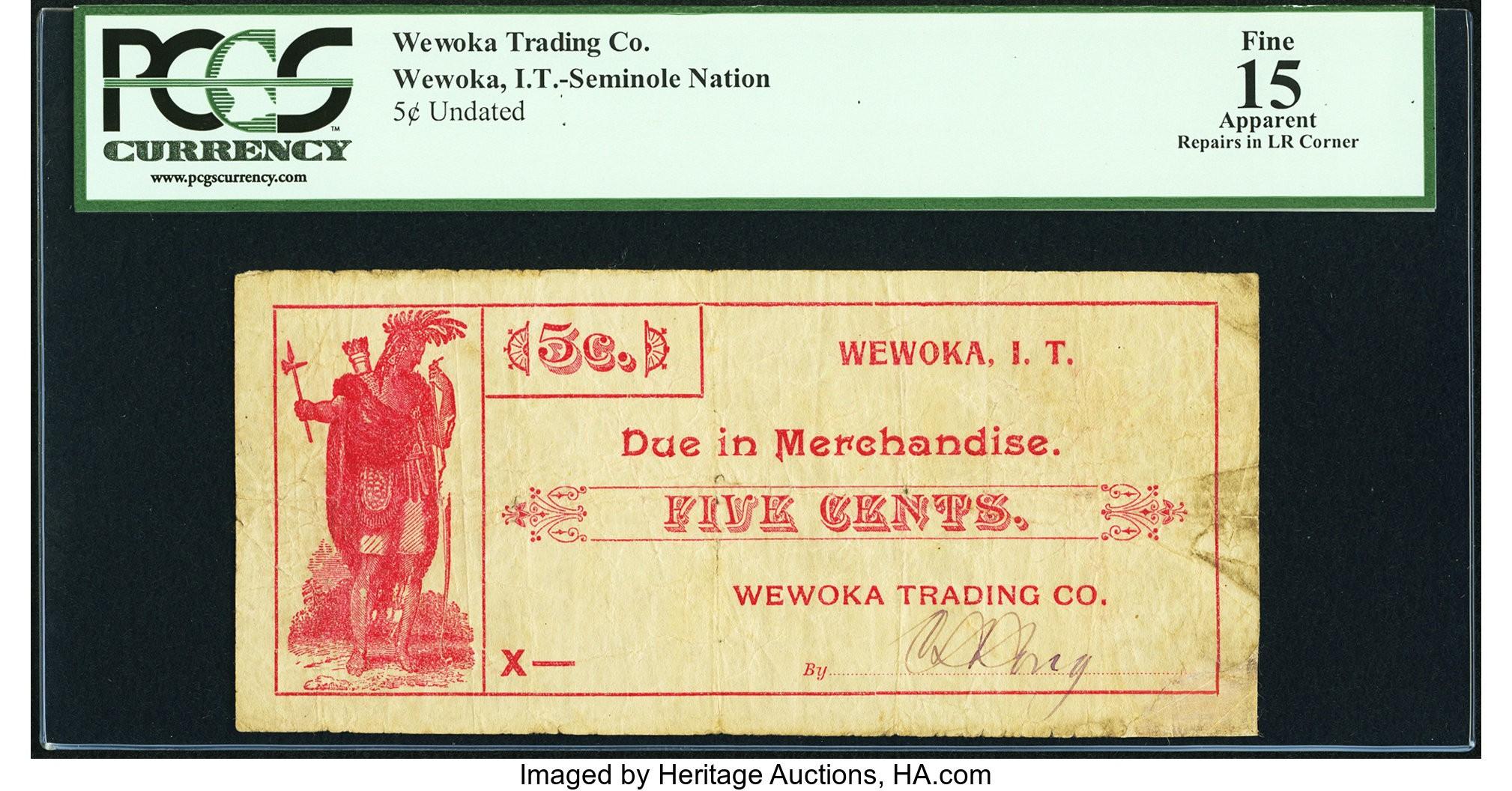 5 Cent Wewoka Trading Co Wewoka IT Seminole Nation ND PCGS 15 Apparent.jpg