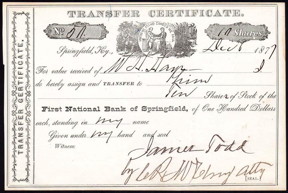 First National Springfield transfer cert.jpg