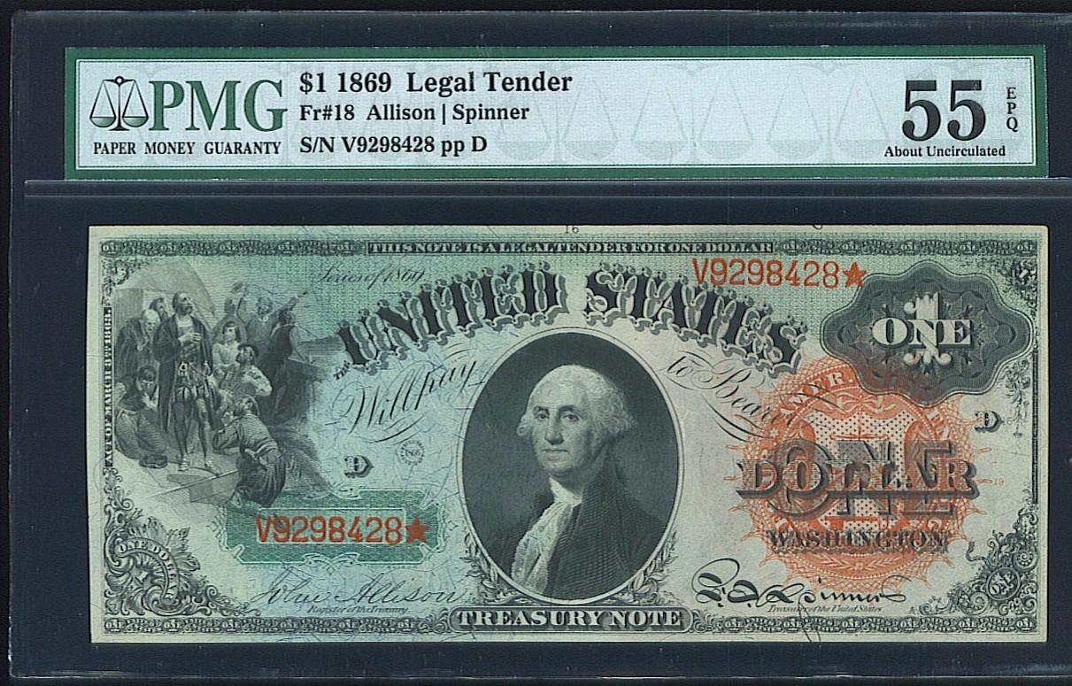 1869 $1 FR-18 PMG AU55 EPQ.jpg