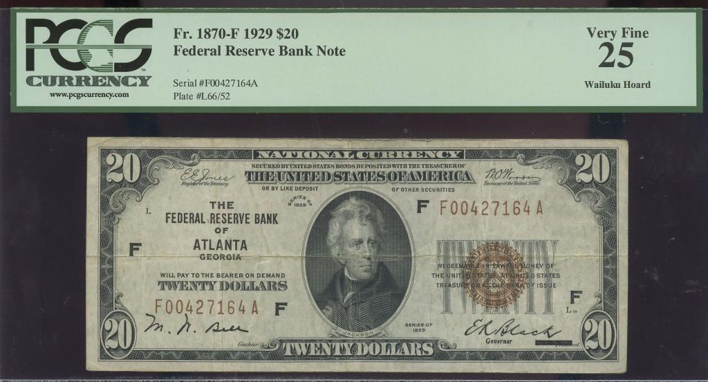 20 1929 FRBN ATLANTA WAILUKU HOARD PCGS VF25 $53.21 obv.jpg