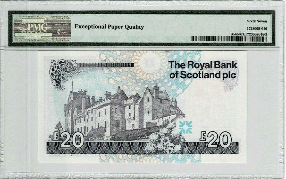 Scotland 20 Pounds 1992 1998 P 345b PMG 67EPQ b.jpg