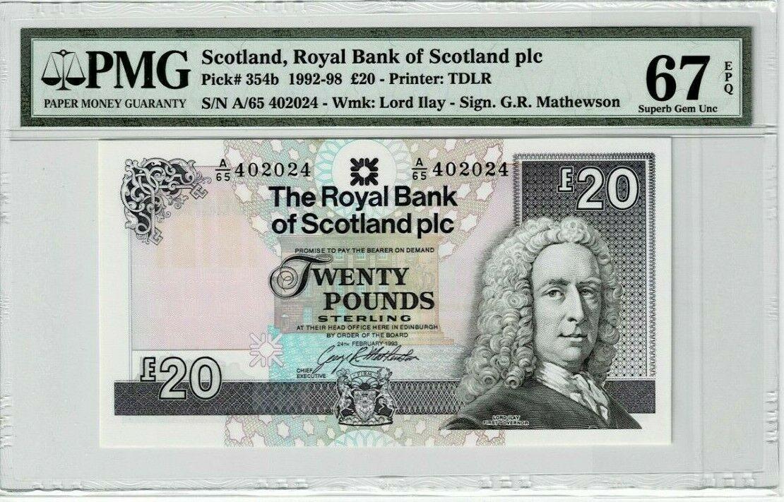 Scotland 20 Pounds 1992 1998 P 345b PMG 67EPQ.jpg