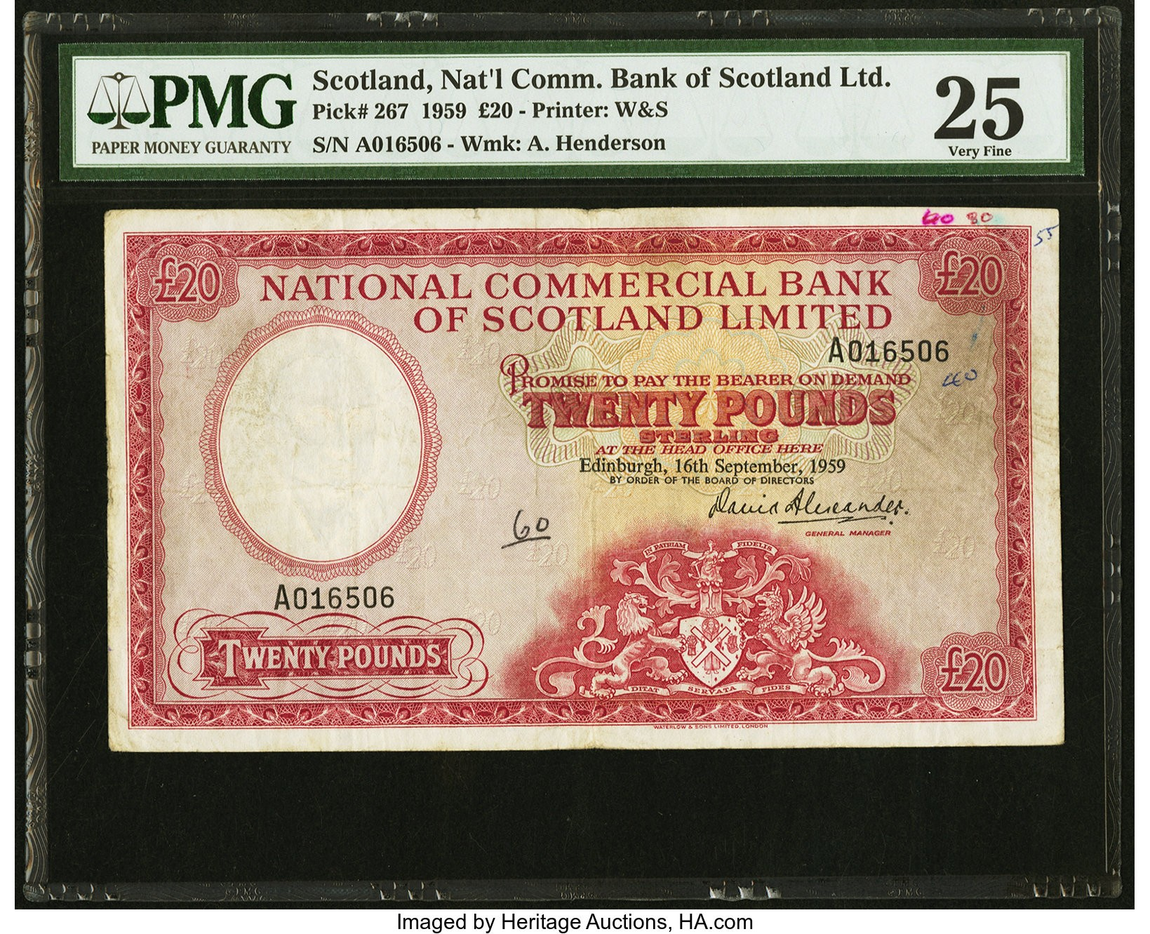 Scotland National Commercial Bank of Scotland Limited 20 Pounds 16.9.1.jpg