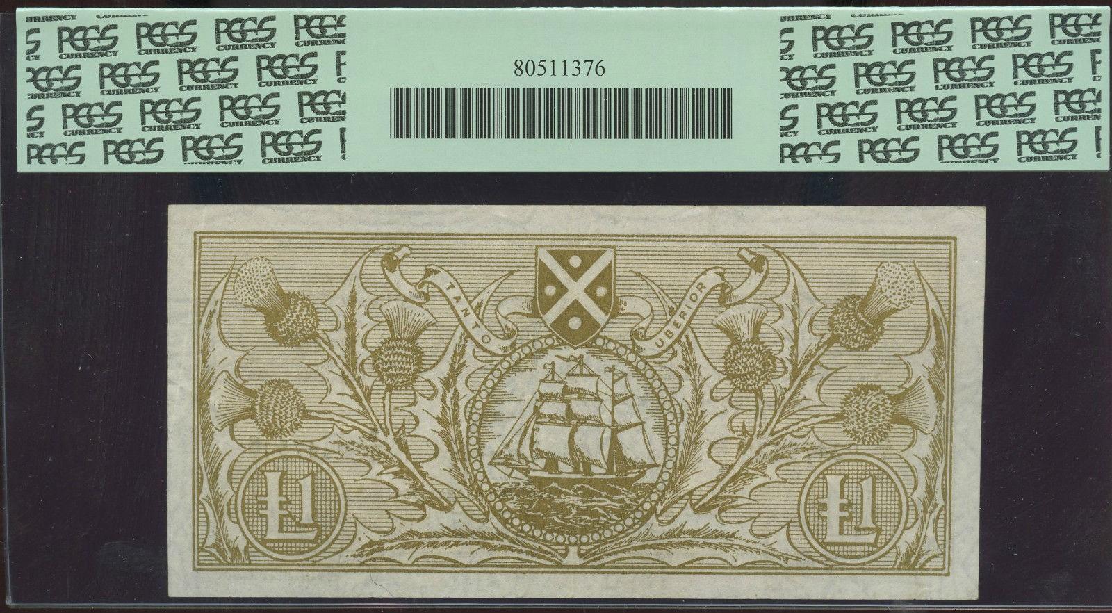 £1 1964 BANK OF SCOTLAND PICK 102a PCGS VF30 EXCELLENT $17.50 rev.jpg