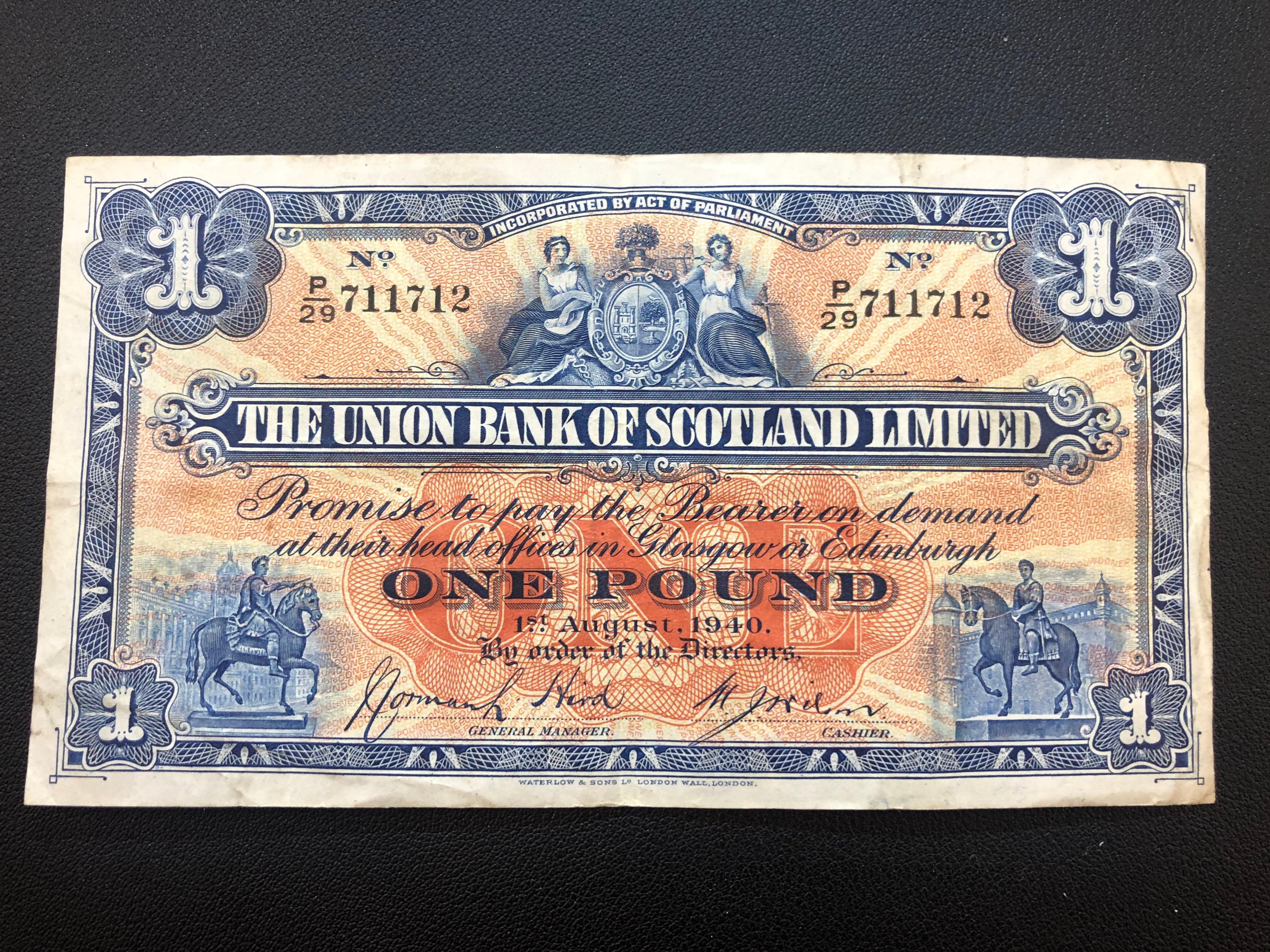 Scotland 1 Pound 1940 S815c Union Bank of Scotland.jpg