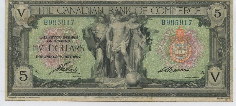 Canadian Bank of Commerce $5 1917 Large Bill $99.00 obv.jpg