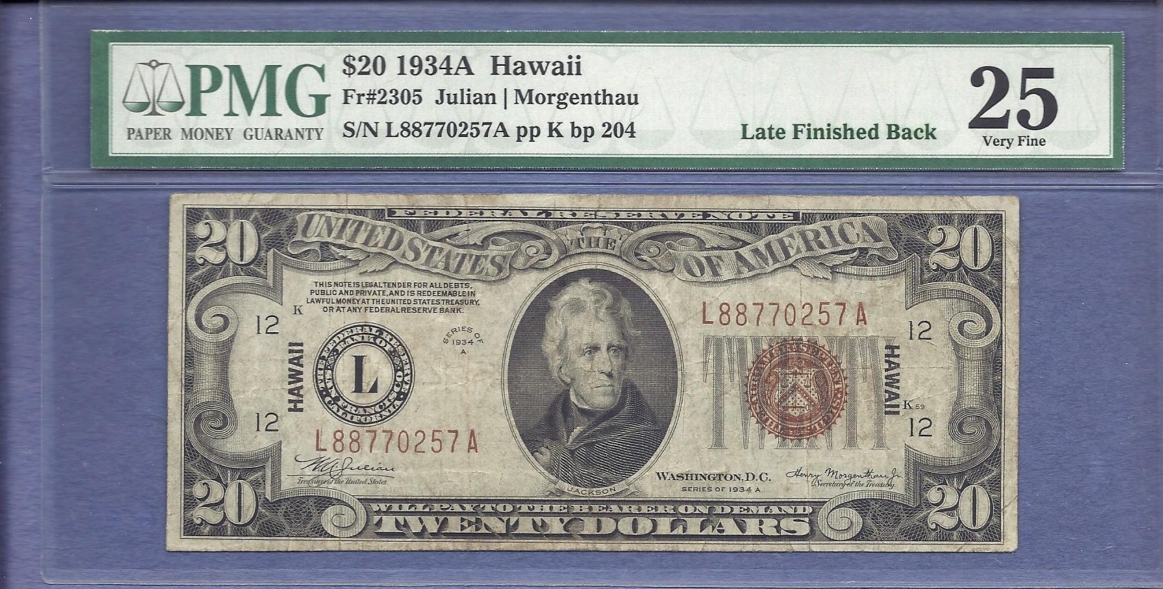 ZZZ-US - Late Back Plate 204 - Fr.2305 (FRN) Hawaii - 1934A $020.00 - .jpg