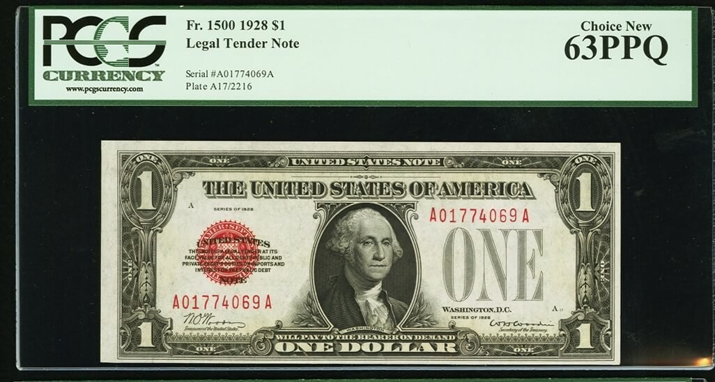 Fr. 1500 $1 1928 Legal Tender Notes. Two Consecutive Examples. PCGS Ne.jpg