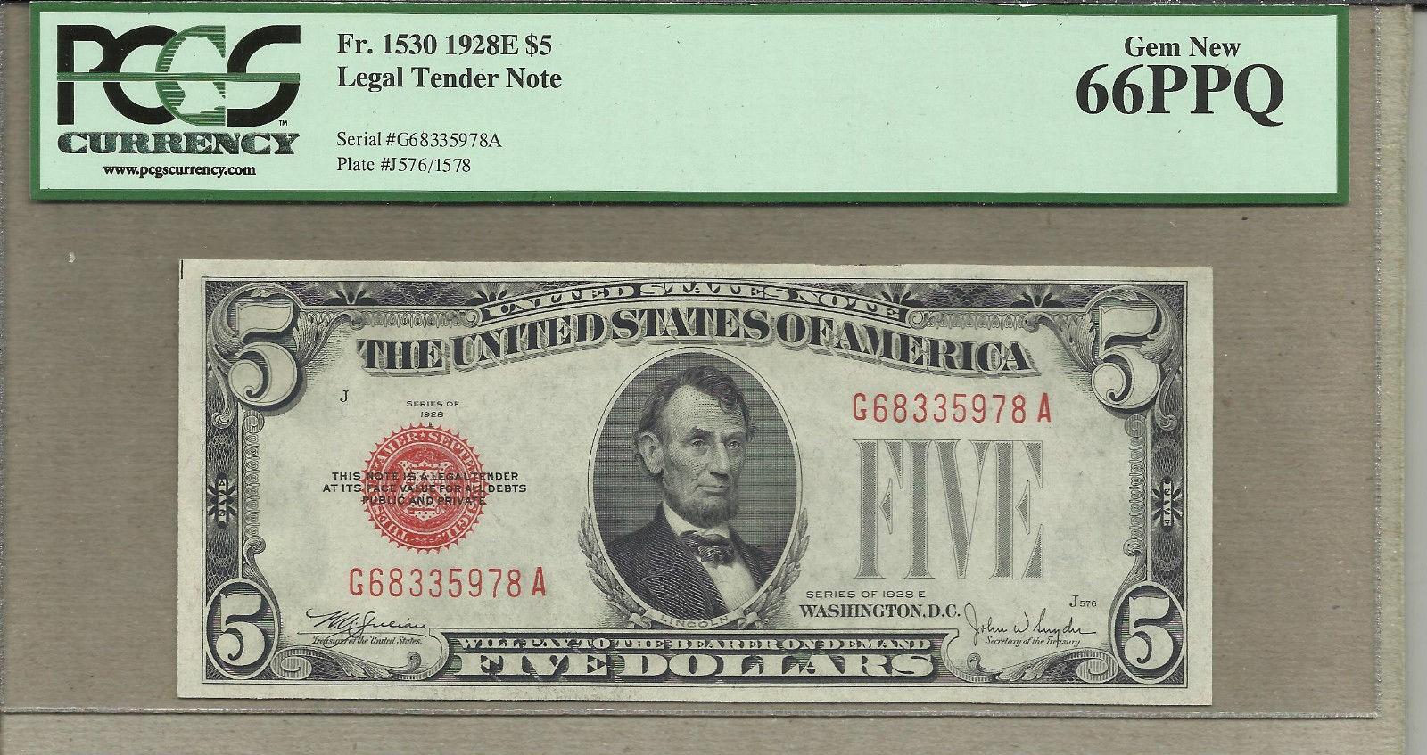 1530 1928 E $5 Red Seal PCGS 66 Gem fr 1530.jpg