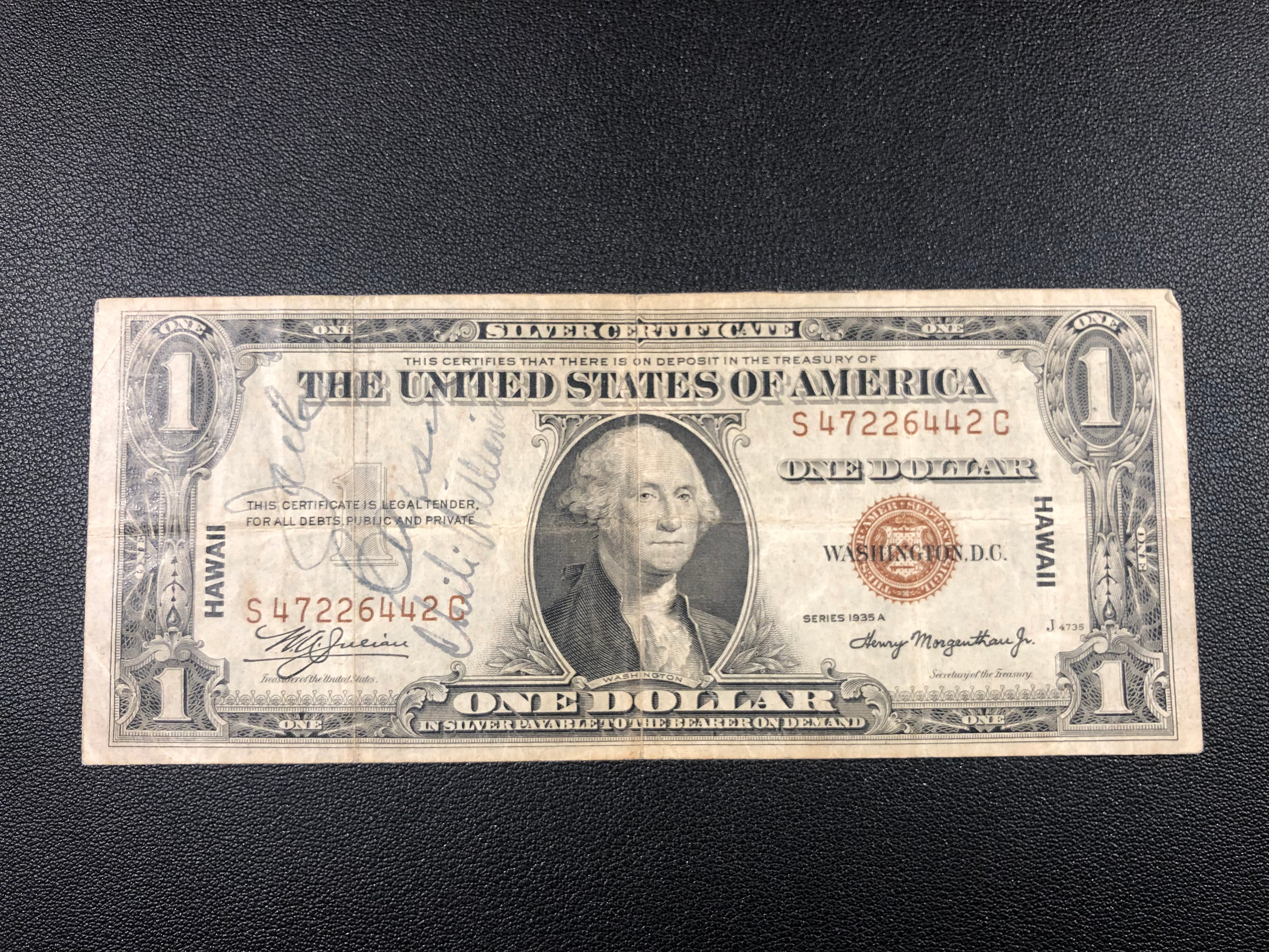 Short Snorter $1 Hawaii Jack Carson Chili Williams USO Signed.jpg