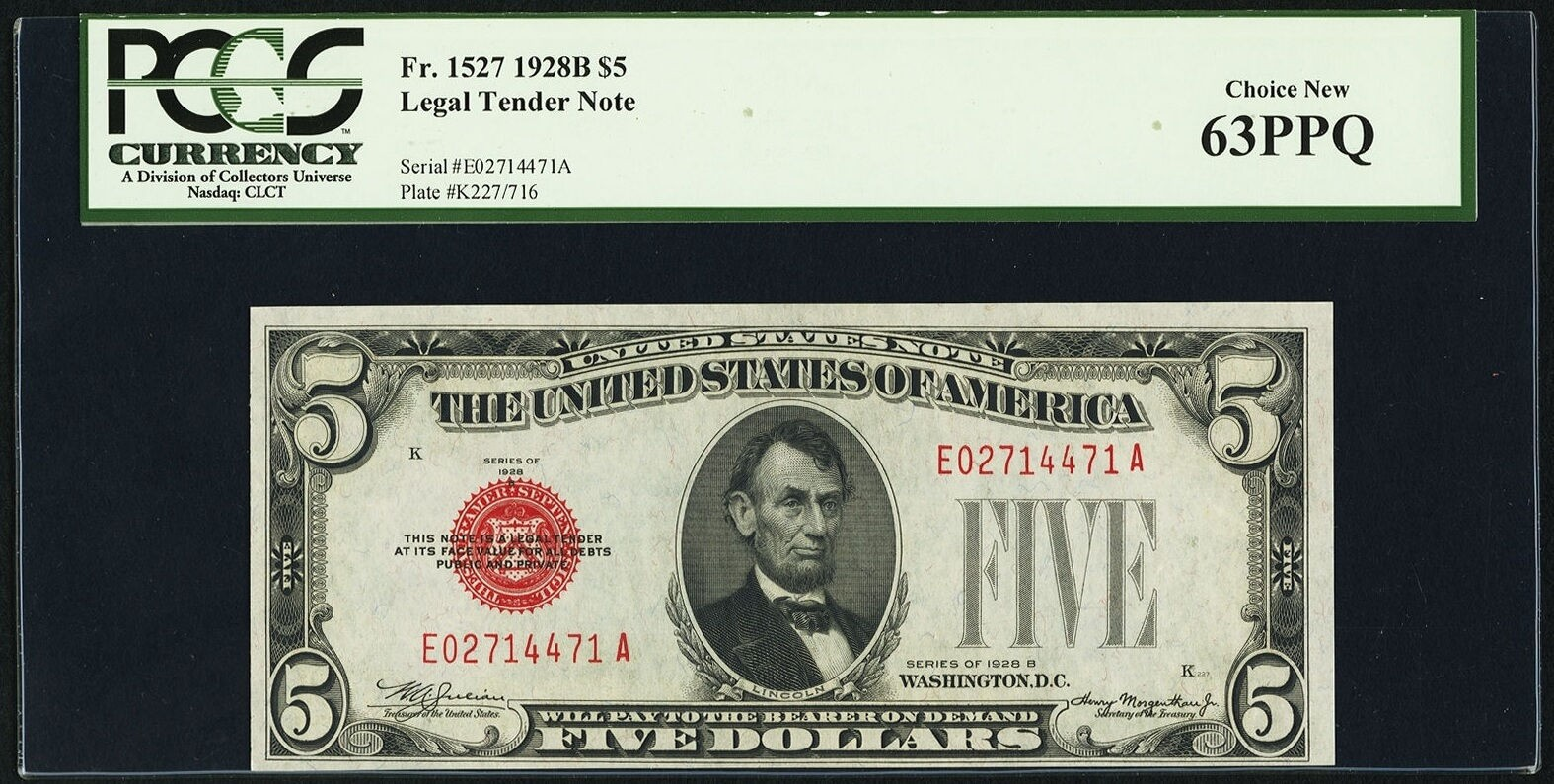 Fr. 1527 $5 1928B Legal Tender Note. PCGS Choice New 63PPQ $62.jpg