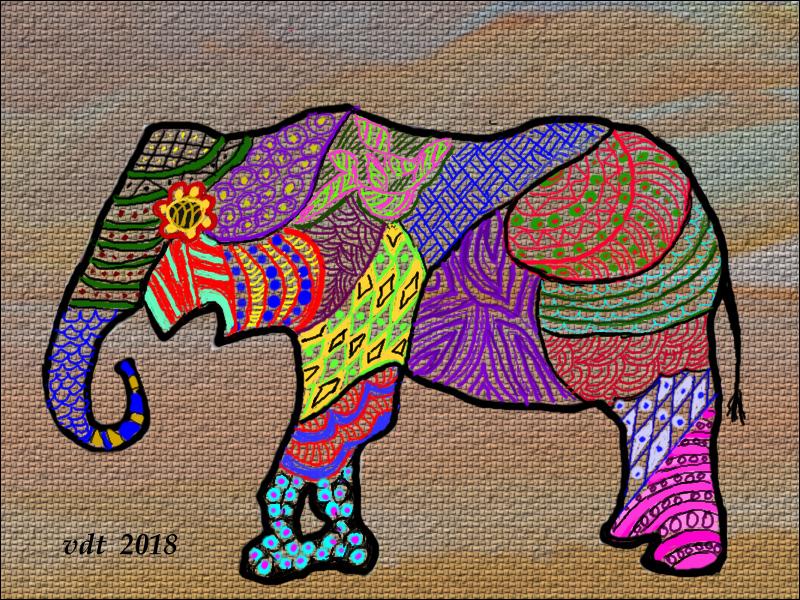 Zentangle Elephant 6 - 2.jpg