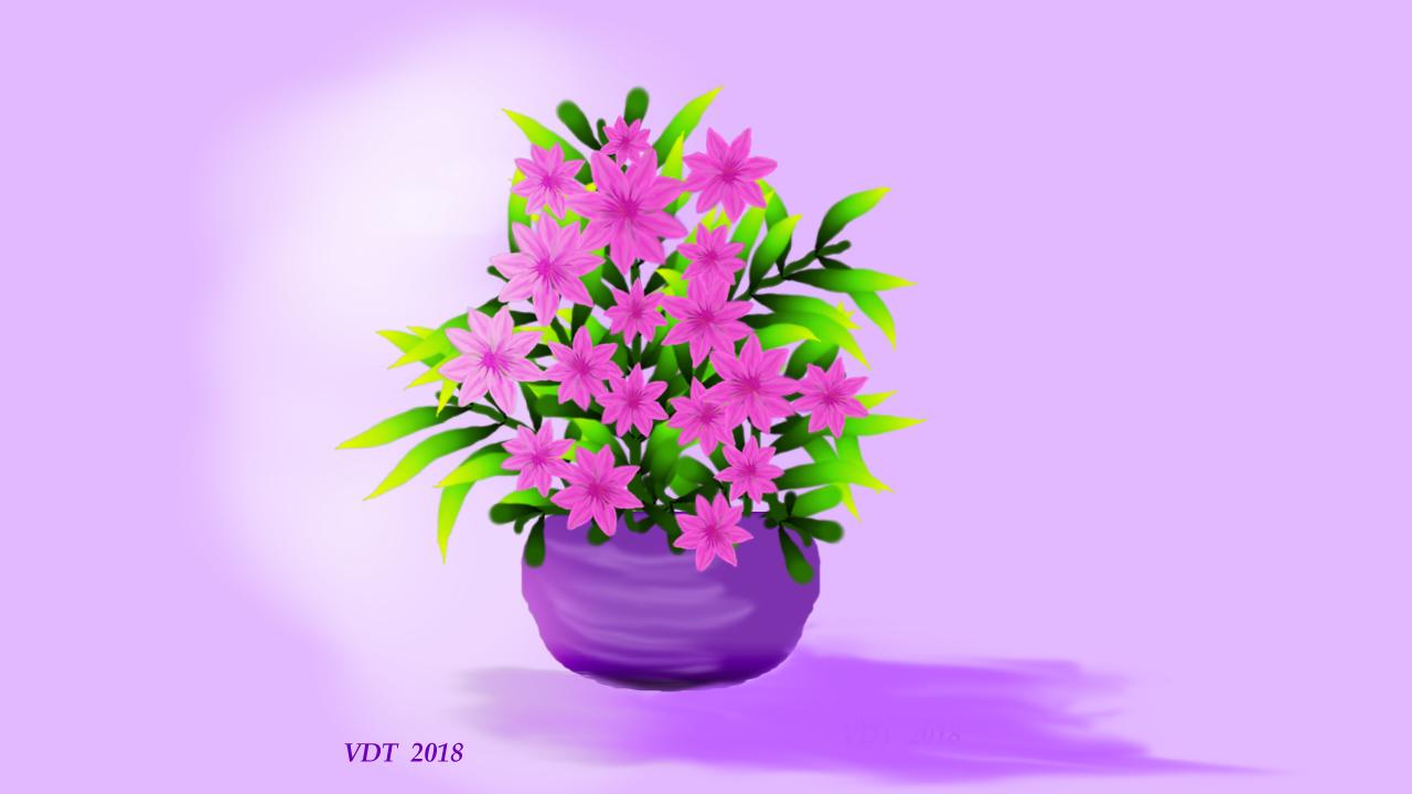 Vase of pink flowers.jpg