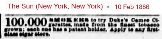 Cameo first advert - Feb 1886.jpg