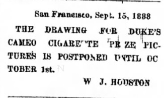 Cameo advert - Sept 1888 - competition postponed.jpg