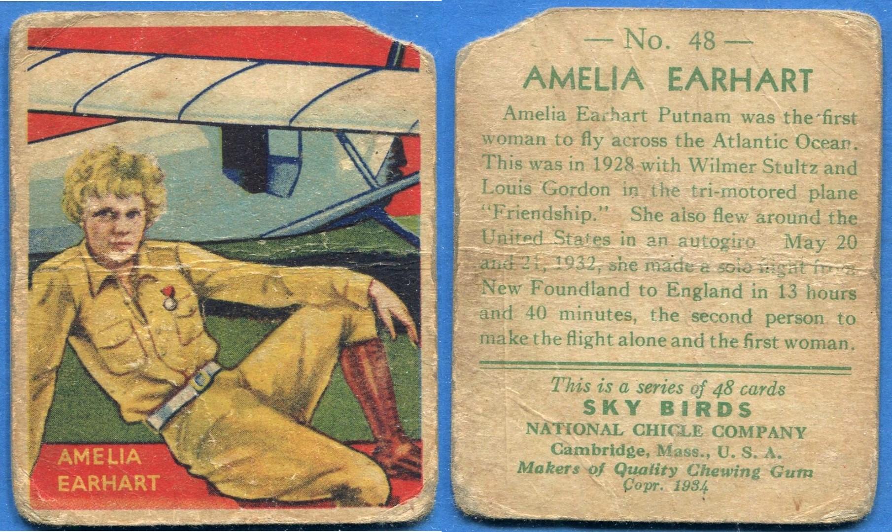 1934 National Chicle Sky Birds Earhart.jpg