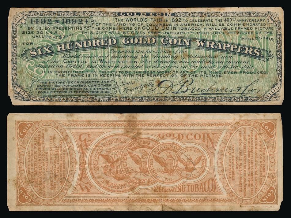 Buchner Redemption Jan 1 1890-1893 World's Fair - 600 wrappers - Colum.jpg