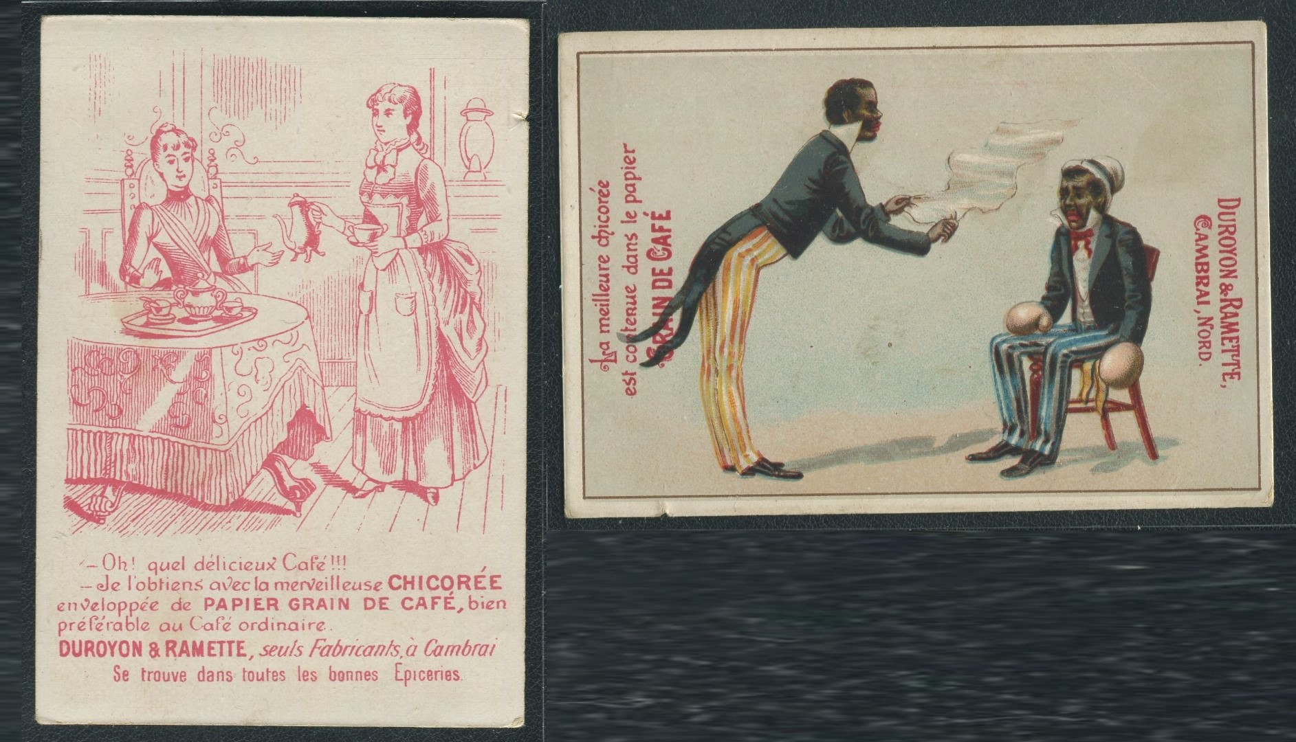 1890s French Racist Boxing Trade Cards 1 - Copy.jpg