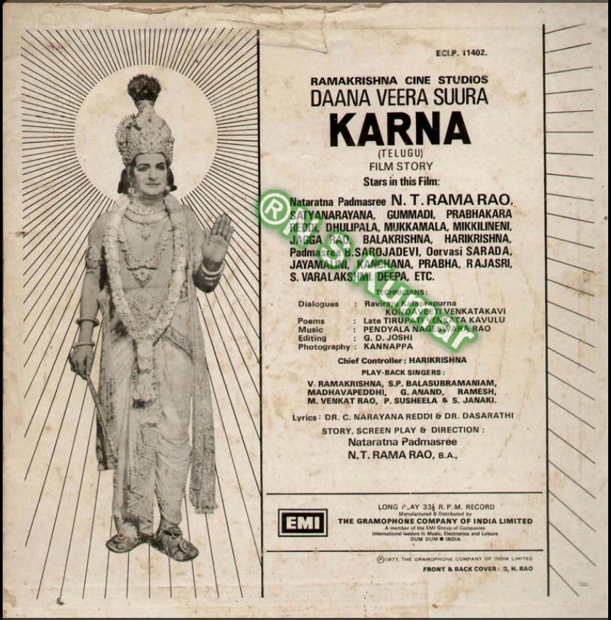 Dana Vira Sura Karna gramophone back cover1.jpg