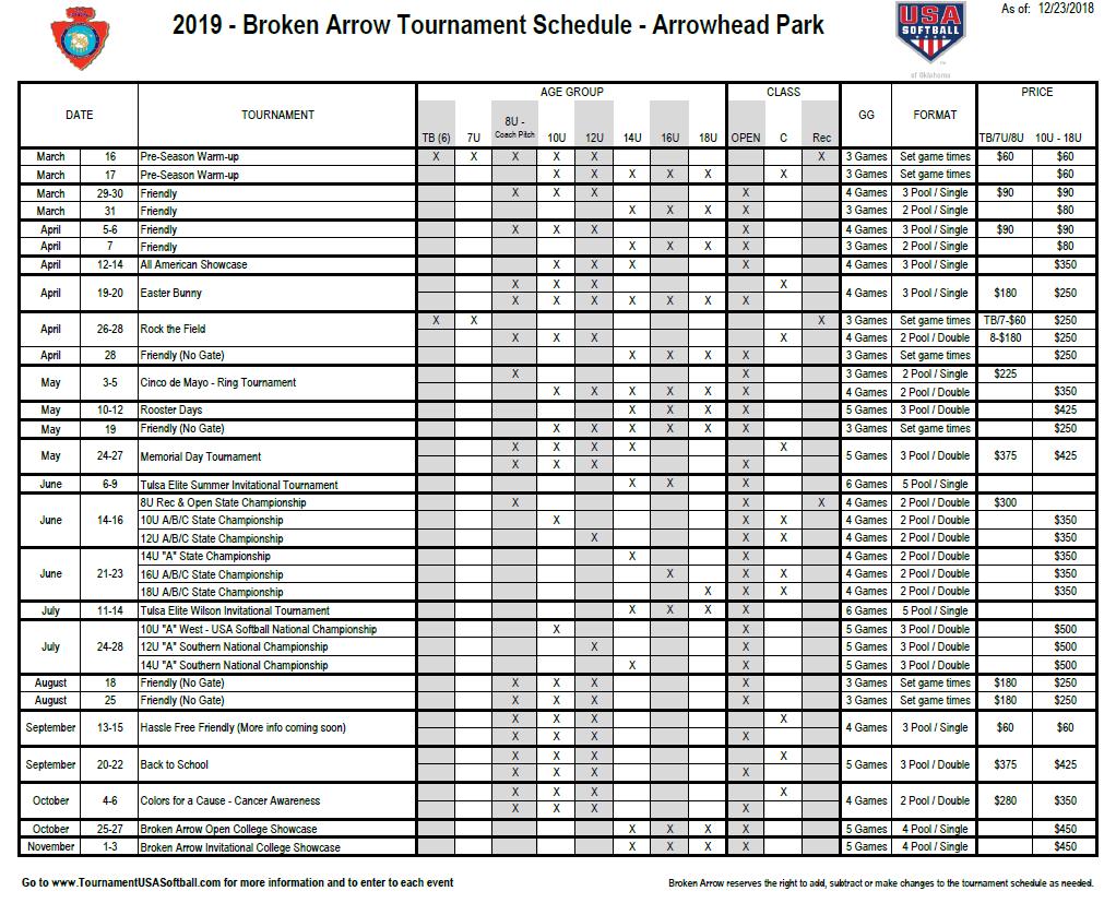 2019 Broken Arrow Tournament Schedule.png