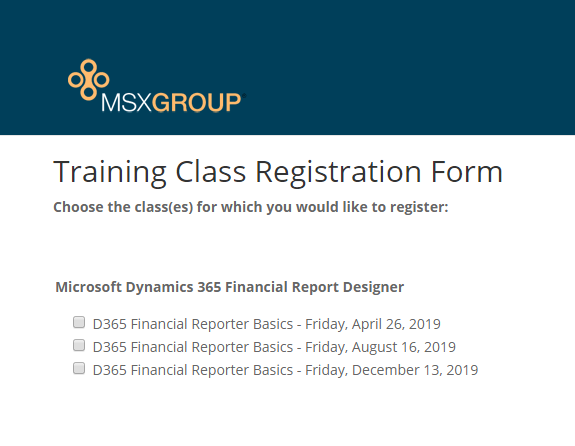 2019 D365 Financial Reporter Training Class Schedule.png